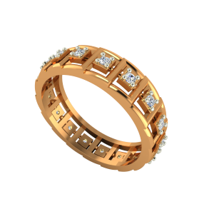 The Glory Track Gold Diamond Eternity Ring