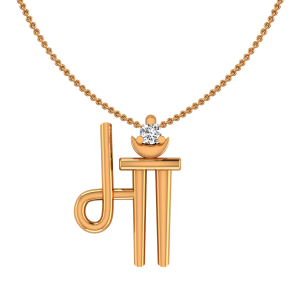 Gold & Diamond Maa Kids Pendant