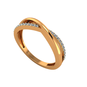 The Golden Stitch Gold Diamond Ring