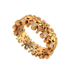 The French Garden Gold Diamond Eternity Ring