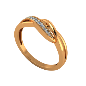 The Golden Tickle Gold Diamond Ring