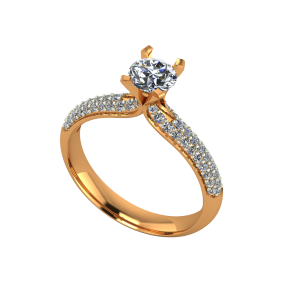The Dearest Solitaire Gold Diamond Solitaire Ring