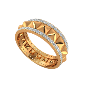 The Golden Dunes Gold Diamond Eternity Ring