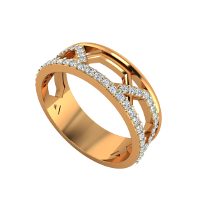 The Fashion Link Gold Diamond Eternity Ring
