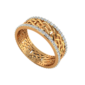 The Playful Affair Gold Diamond Eternity Ring
