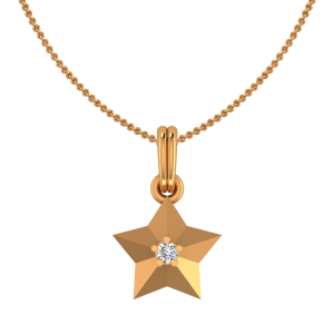 The Sweet Star Gold Diamond Kids Pendant
