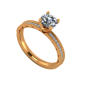 The Fine Solitaire Gold Diamond Solitaire Ring