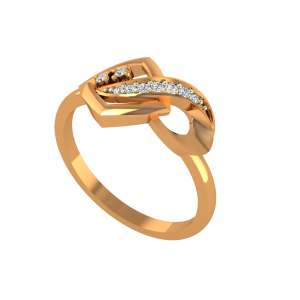 The Sassy Suave Gold Diamond Ring