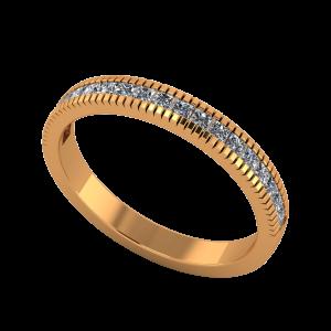 The Princess Band Gold Diamond Ring
