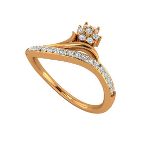 The Floral Branch Gold Diamond Ring