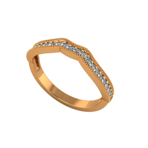 The Vivacious Way Gold Diamond Ring