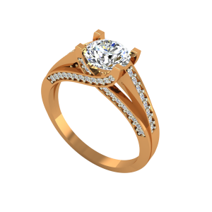 The Solitaire Suave Gold Diamond Solitaire Ring