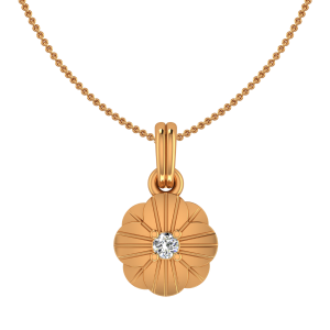 The Clover Over Gold Diamond Kids Pendant