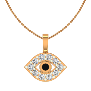 The Evil Eye Gold Diamond Kids Pendant