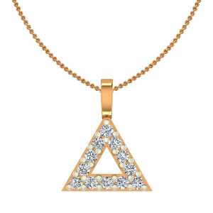 Tiny Triangle Gold Diamond Kids Pendant