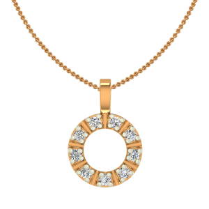 Circle Of Joy Gold Diamond Kids Pendant