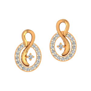 The Admirable Gold Diamond Earrings