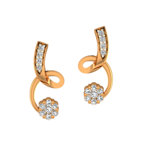 The Curl Hussle Gold Diamond Earrings