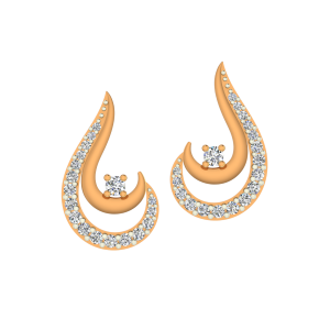 The Hooked Up Gold Diamond Earrings