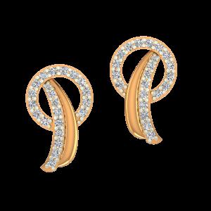 The Posy Gold Diamond Earrings
