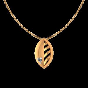 Golden Flare Diamond Pendant