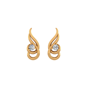 The Posy Pose Diamond Stud Earrings