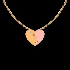 Double Mascot Gold Diamond Pendant