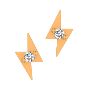 The Flashy Flash Gold Diamond Kids Earring