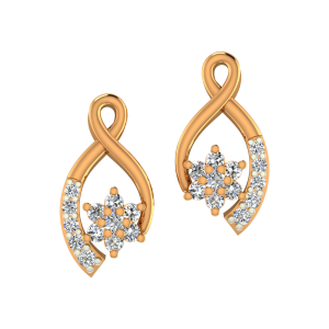 The Fashion N Fame Gold Diamond Earrings