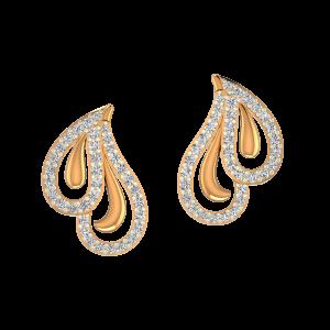 The Entwine Gold Diamond Earrings