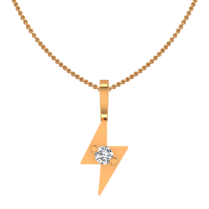 The Flash Flair Gold Diamond Kids Pendant
