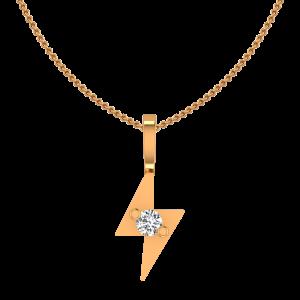 The Flash Flair Gold Diamond Kids Pendant