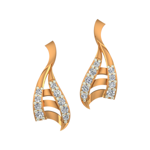 The Twisted Trinket Gold Diamond Earrings