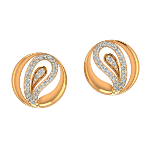 Blooming Buds Gold Diamond Earrings