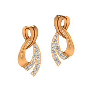 The Envy Enigma Gold Diamond Earrings