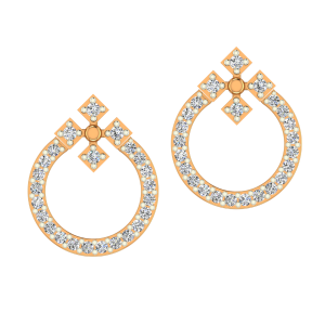 The Ringlets Gold Diamond Earrings