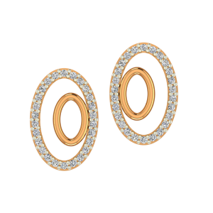 The Olly Ovals Gold Diamond Earrings