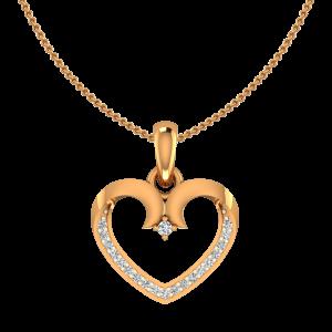 The Heartly Gold Diamond Pendant