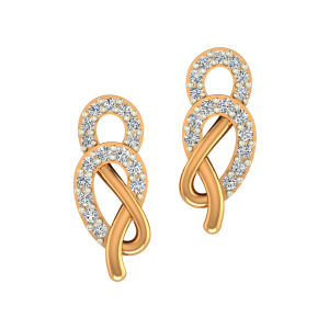 The Fashion Flaunt Gold Diamond Earrings