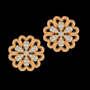 The Floret Gold Diamond Earrings