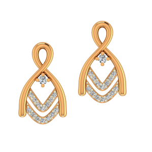 The Miracle Gold Diamond Earrings