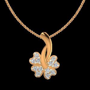 The Floret Gold Diamond Pendent