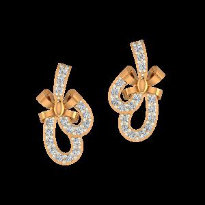 The Fashion Gold Diamond Earrings