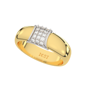 The White Bloom Couple Band Diamond Ring