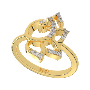 The Peacock Pride Gold Diamond Ring