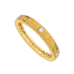 The Texture Trend Gold Diamond Ring