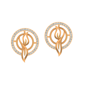 The Fashion Cluster Gold Diamond Earrings