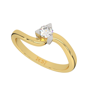 The Solitaire Swirl Diamond Ring