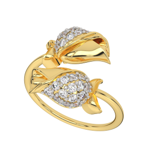 Floral Fiesta Gold Diamond Ring