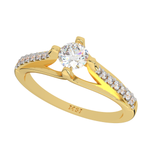 The Crown Cardinal Solitaire Diamond Ring